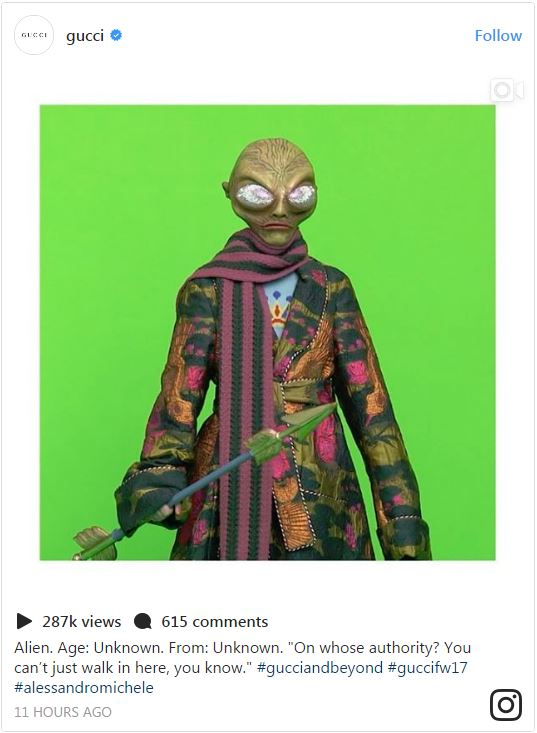 GUCCI-and beyond ALIENS-
